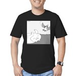 Mitzy (No Text) Men's Fitted T-Shirt (dark)