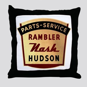 Nash Rambler Hudson Service Throw Pillow