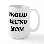 Proud Hound Mom 15 Oz Ceramic Large Mug Mugs