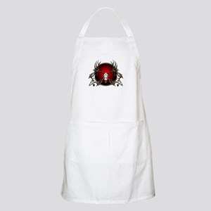 Deer skull with feathers Apron