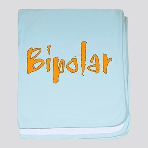 Orange Bipolar baby blanket