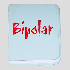 Red Bipolar baby blanket