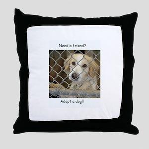 Love a dog Throw Pillow