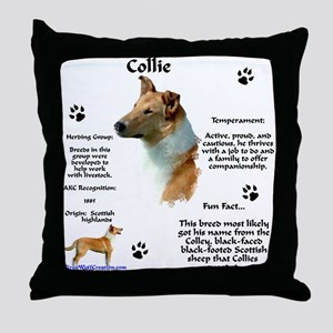 Collie 2 Throw Pillow