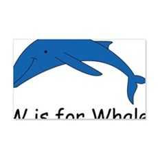 W is for Whale 22x14 Wall Peel