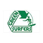 Green Surfers 38.5 x 24.5 Wall Peel