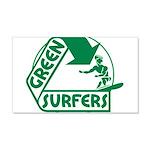 Green Surfers 22x14 Wall Peel