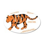 Tiger Facts 38.5 x 24.5 Oval Wall Peel