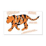 Tiger Facts 22x14 Wall Peel