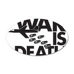 War is Death 22x14 Oval Wall Peel