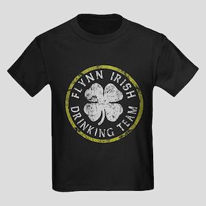 Flynn Irish Drinking Team Kids Dark T-Shirt