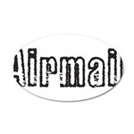 Airmail 35x21 Oval Wall Decal
