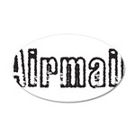 Airmail 20x12 Oval Wall Decal