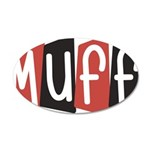 Muff 35x21 Oval Wall Decal
