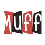 Muff 20x12 Wall Decal