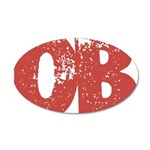 OB 35x21 Oval Wall Decal