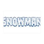 Snowman 35x21 Wall Decal