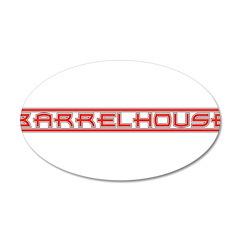 Barrelhouse 22x14 Oval Wall Peel