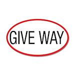 Give Way 22x14 Oval Wall Peel