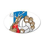 Bucks County Volleyball 38.5 x 24.5 Oval Wall Peel