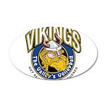 Vikings 38.5 x 24.5 Oval Wall Peel
