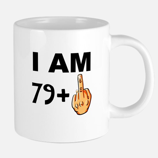 Middle Finger 80th Birthday 20 oz Ceramic Mega Mug
