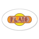 Plato Sticker (Oval 50 pk)