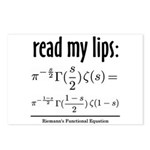 Riemann Functional Equation Postcards (Package of