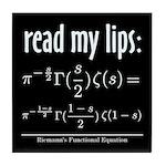 Riemann Functional Equation Tile Coaster