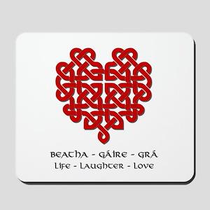 Celtic Heart (Red) Mousepad