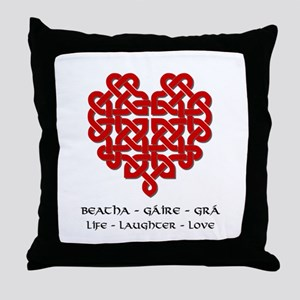 Celtic Heart (Red) Throw Pillow