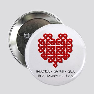 """Celtic Heart (Red) 2.25"""" Button"""