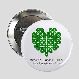 """Celtic Heart (Green) 2.25"""" Button"""