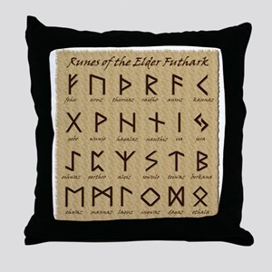 Runes (Parchment) Throw Pillow