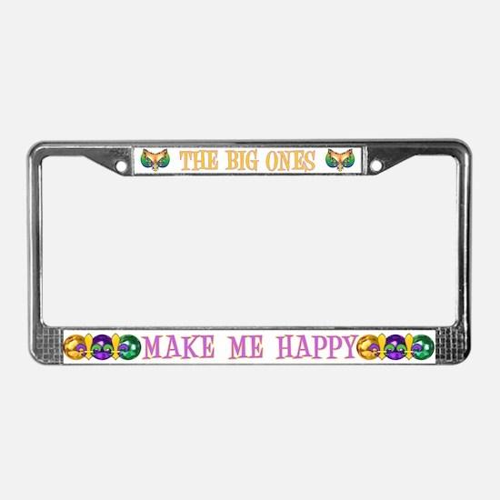 Happy Big Ones License Plate Frame