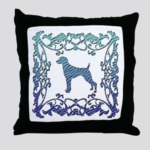Weimaraner Lattice Throw Pillow