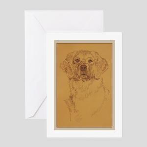 Golden Retriever Dog Art Greeting Card