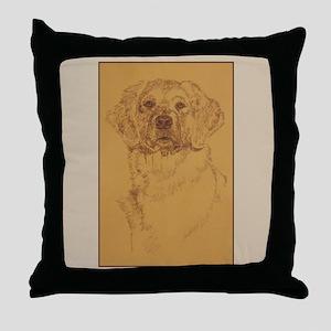 Golden Retriever Dog Art Throw Pillow