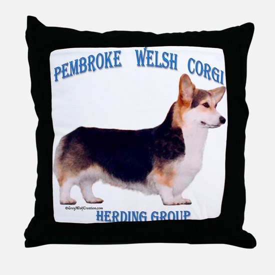 Corgi 3 Throw Pillow
