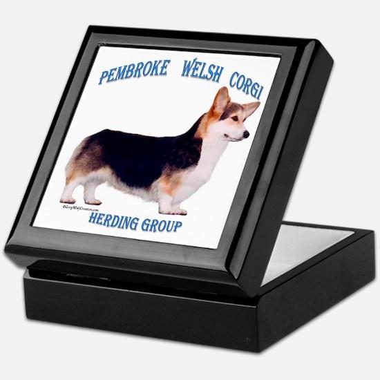 Corgi 3 Keepsake Box