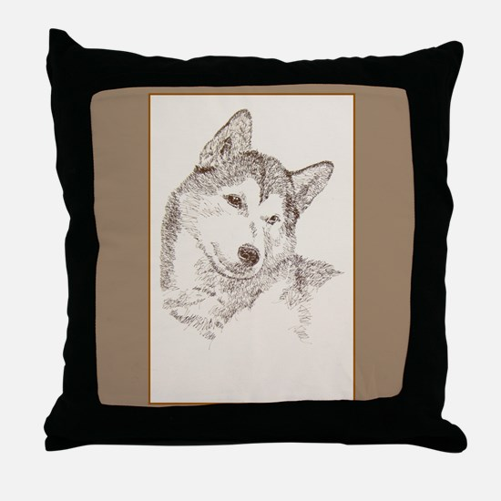 Siberian Husky Throw Pillow
