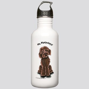 Chocolate Labradoodle Manipulate Stainless Water B