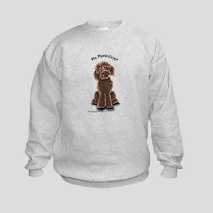 Chocolate Labradoodle Manipulate Kids Sweatshirt
