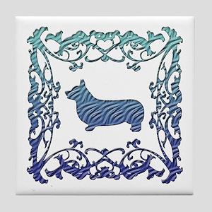 Corgi Lattice Tile Coaster