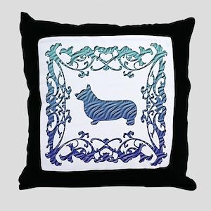 Corgi Lattice Throw Pillow