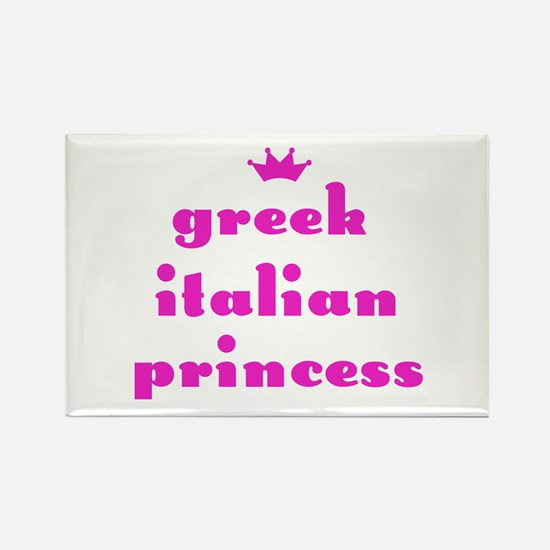 Greek Italian Princess (pink) Rectangle Magnet