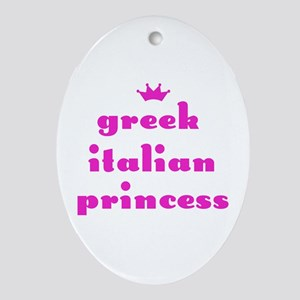 Greek Italian Princess (pink) Oval Ornament