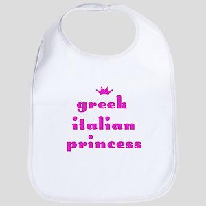 Greek Italian Princess (pink) Bib