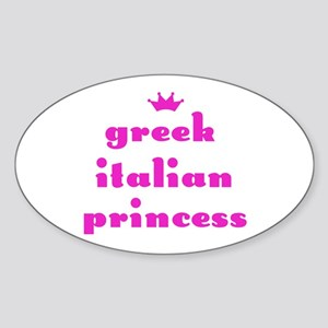 Greek Italian Princess (pink) Oval Sticker