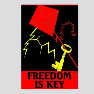 Freedom is Key Postcards (Package of 8)